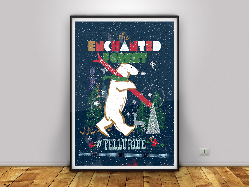 Enchanted Forest in Telluride! Limited Edition Poster! FREE SHIPPING!