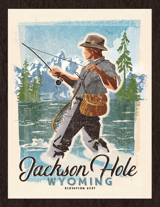 A River Runs Through It Limited Edition Fly Fishing Poster.  Fish On! Remember your time on the river.  FREE SHIPPING!! Several Sizes available!