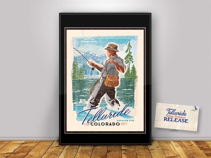 A River Runs Through It in Telluride Colorado!  FREE SHIPPING!