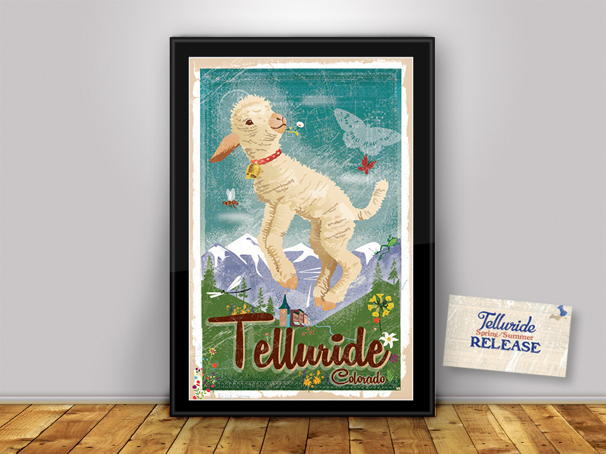 Celebrate Spring in Telluride! Limited Edition Print. FREE SHIPPING!