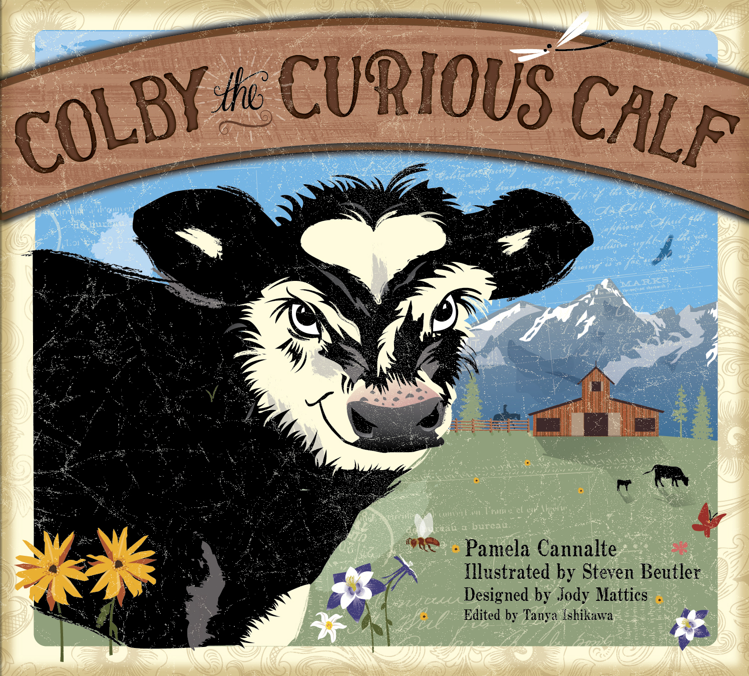 Cover of my new Children's Picture Book about a baby calf on Centennial Ranch in Western Colorado.
