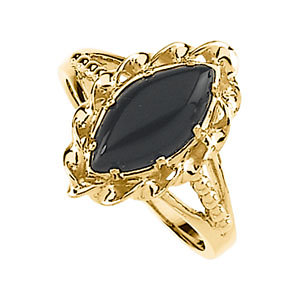 Copy of Onyx Rope Design Ring