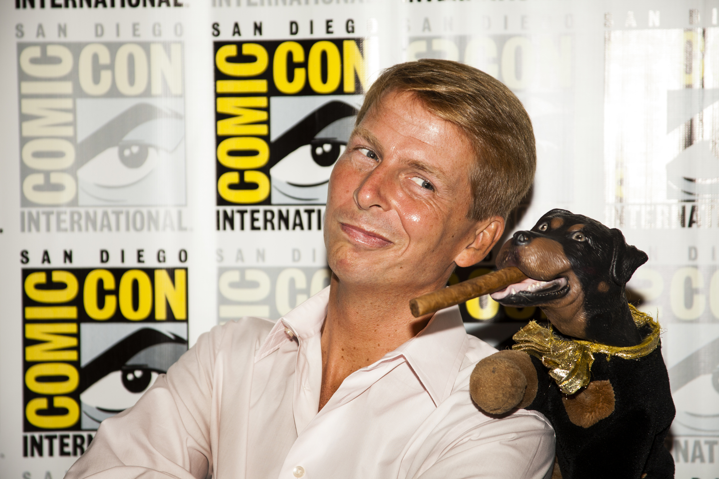 Actor Jack McBrayer and Triumph, The Comic Insult Dog  Photo by Joel Feria