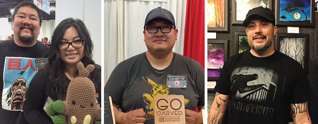 CrochetGiftsByCielo, Go Carved, and Fiendish Thingies are just a few of the many highlights at the inaugural Comic Con Revolution