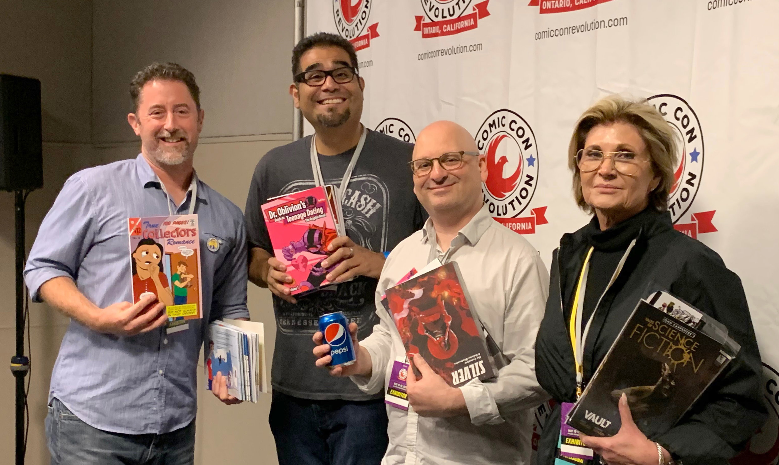 Eddie DeAngelini (self-publishing the comic Collectors), Jeff Piña (self-publishing, independent publishing), Stephan Franck (self-publishing under Dark Planet Comics), Sandy King Carpenter (self-publishing under Storm King Productions)