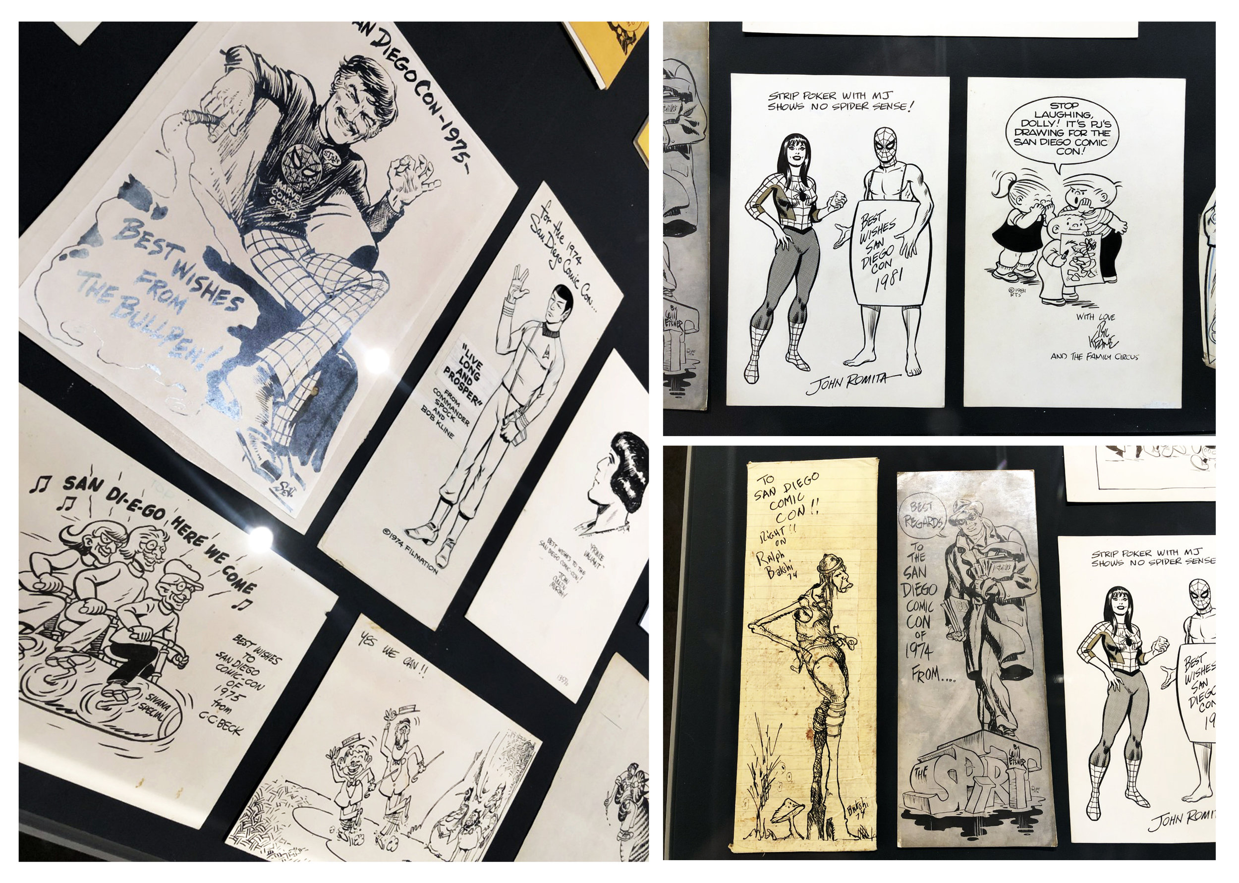Original interior artwork submitted by Bob Kline, John Murphy, C.C. Beck, Sergio Aragones, John Romita Sr., Bill Keane, Ralph Bakshi and Will Eisner