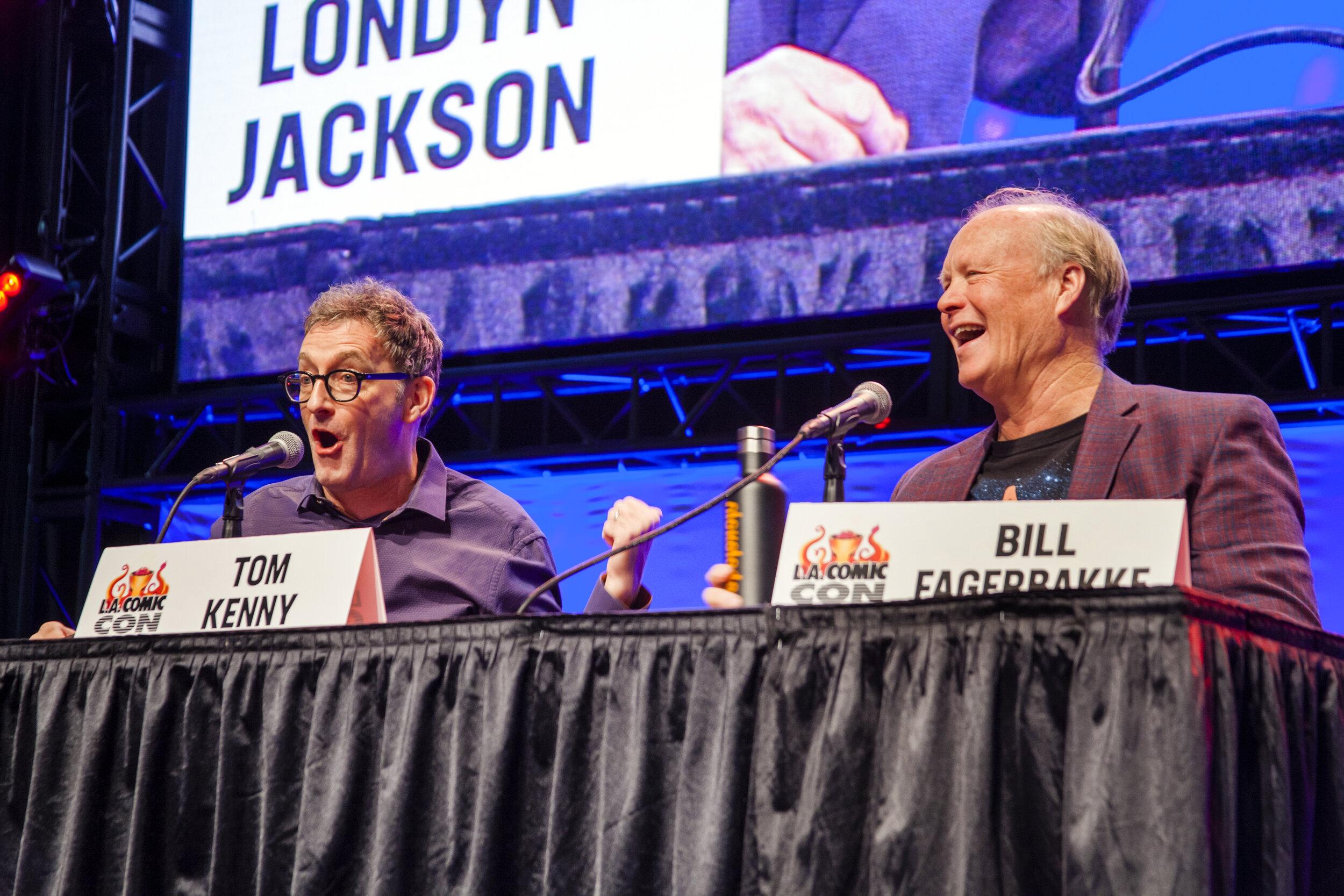 Tom Kenny (Spongebob) and Bill Fagerbakke (Patrick) at LACC. Photo by Joel Feria