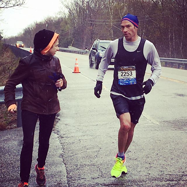 In honor of Nicky's birthday today, a throwback to last month's big race, mile 22... Nick: They made the course too long. We're running 27 miles! Me: ❓⁉️😵