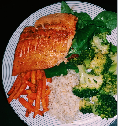 Salmon Vegetable Dinner