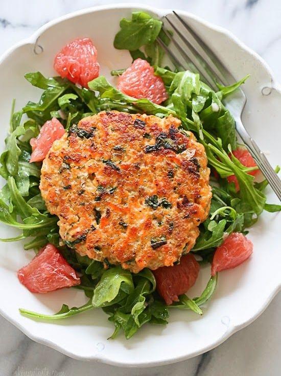 Salmon Burger Salad
