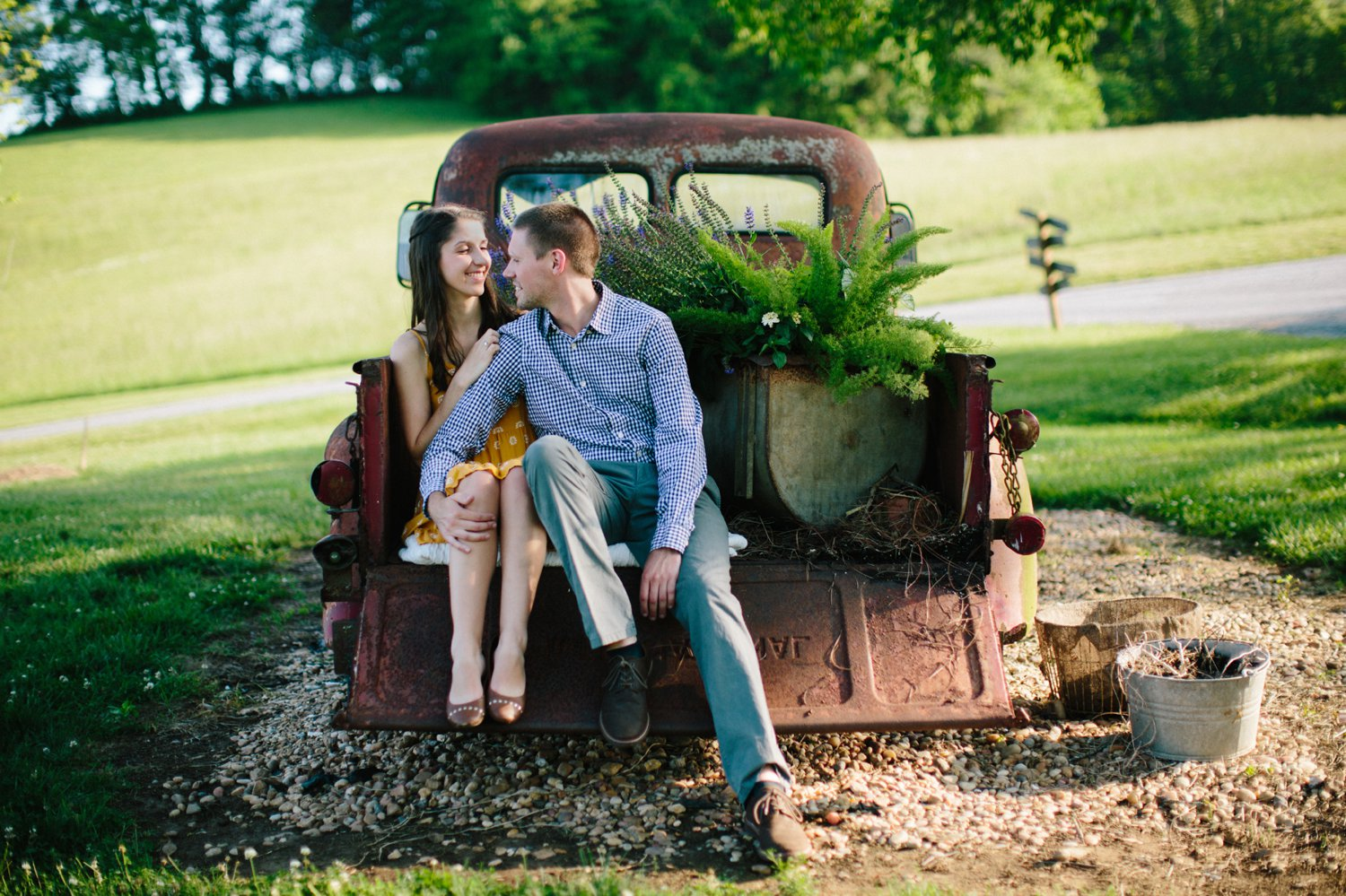 southern engagement session mint springs farm