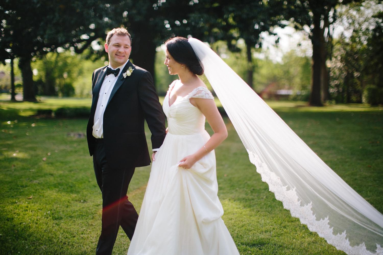 long veil bride wedding