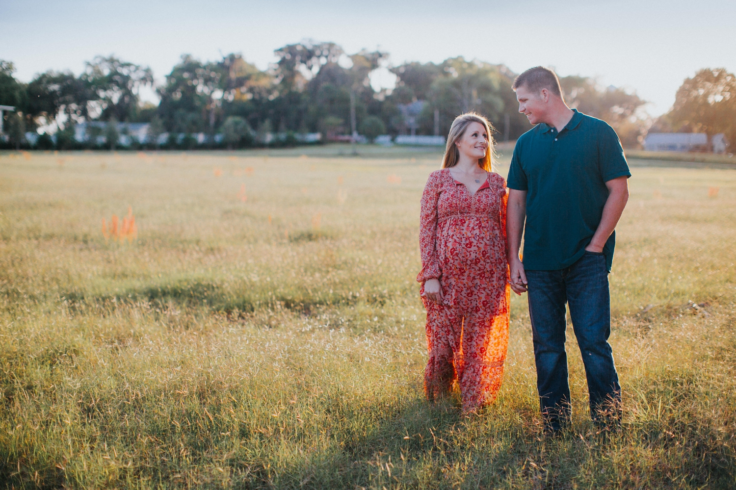 outdoor tampa engagement session