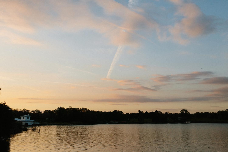 lake jovita sunset