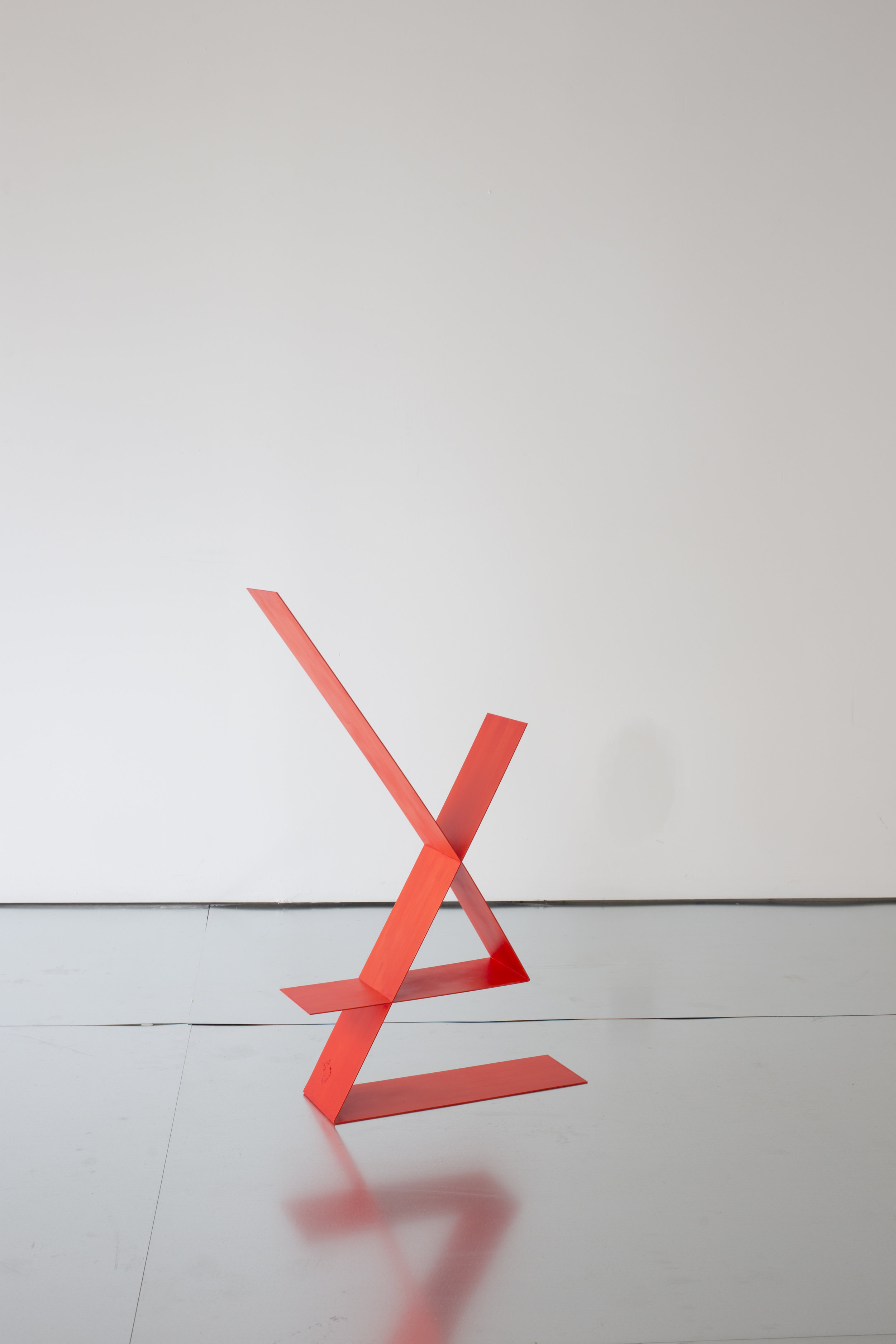 Untitled , 2016, steel, aluminum, acrylic paint, 36 x 6 x 24 Inches