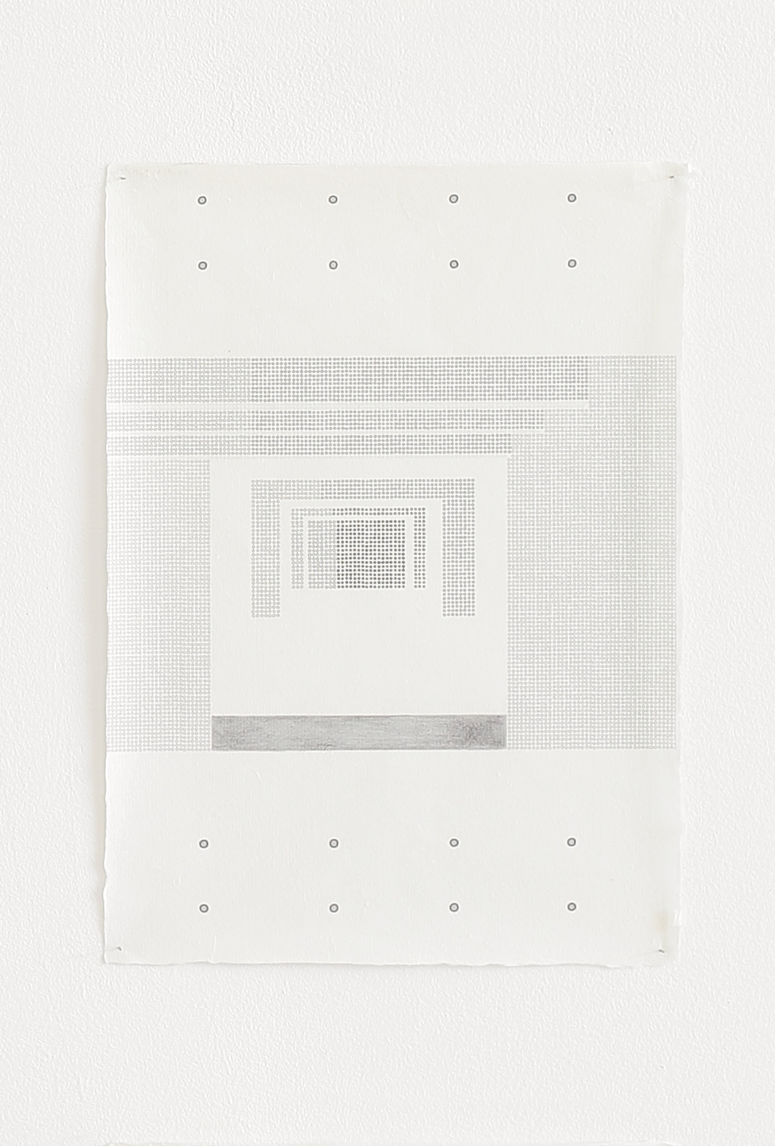 Azadeh Gholizadeh ,  Repetition Figure (1707) , 2017 , graphite, print on rice paper