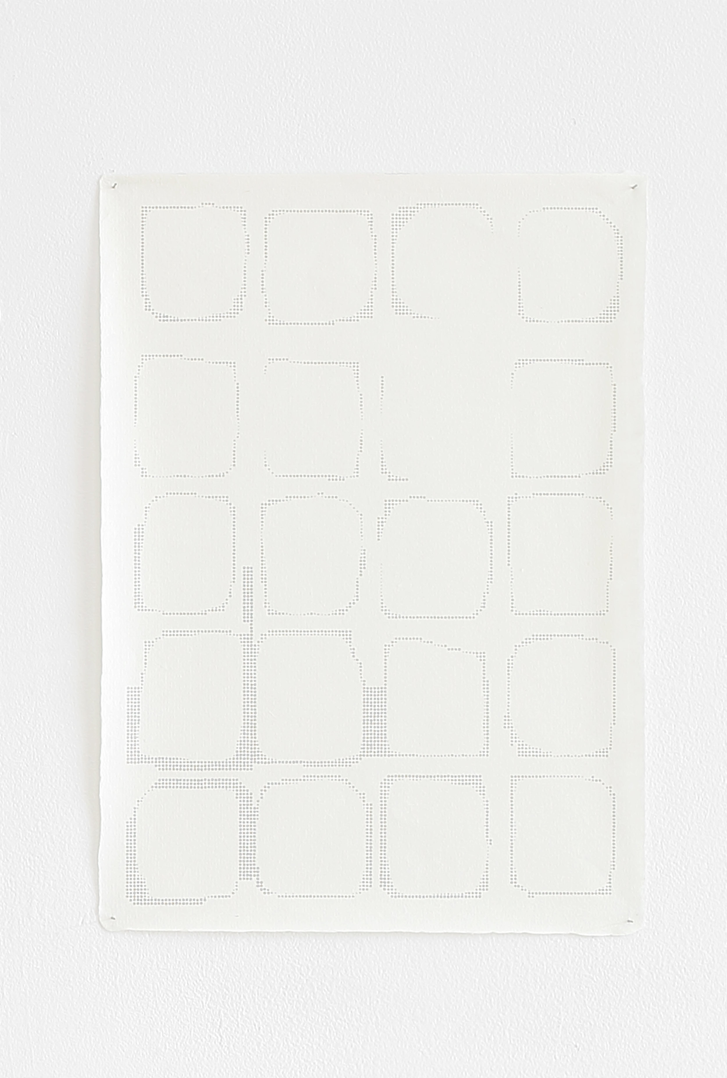 Azadeh Gholizadeh ,  Repetition Figure (1720) , 2017, graphite, print on rice paper