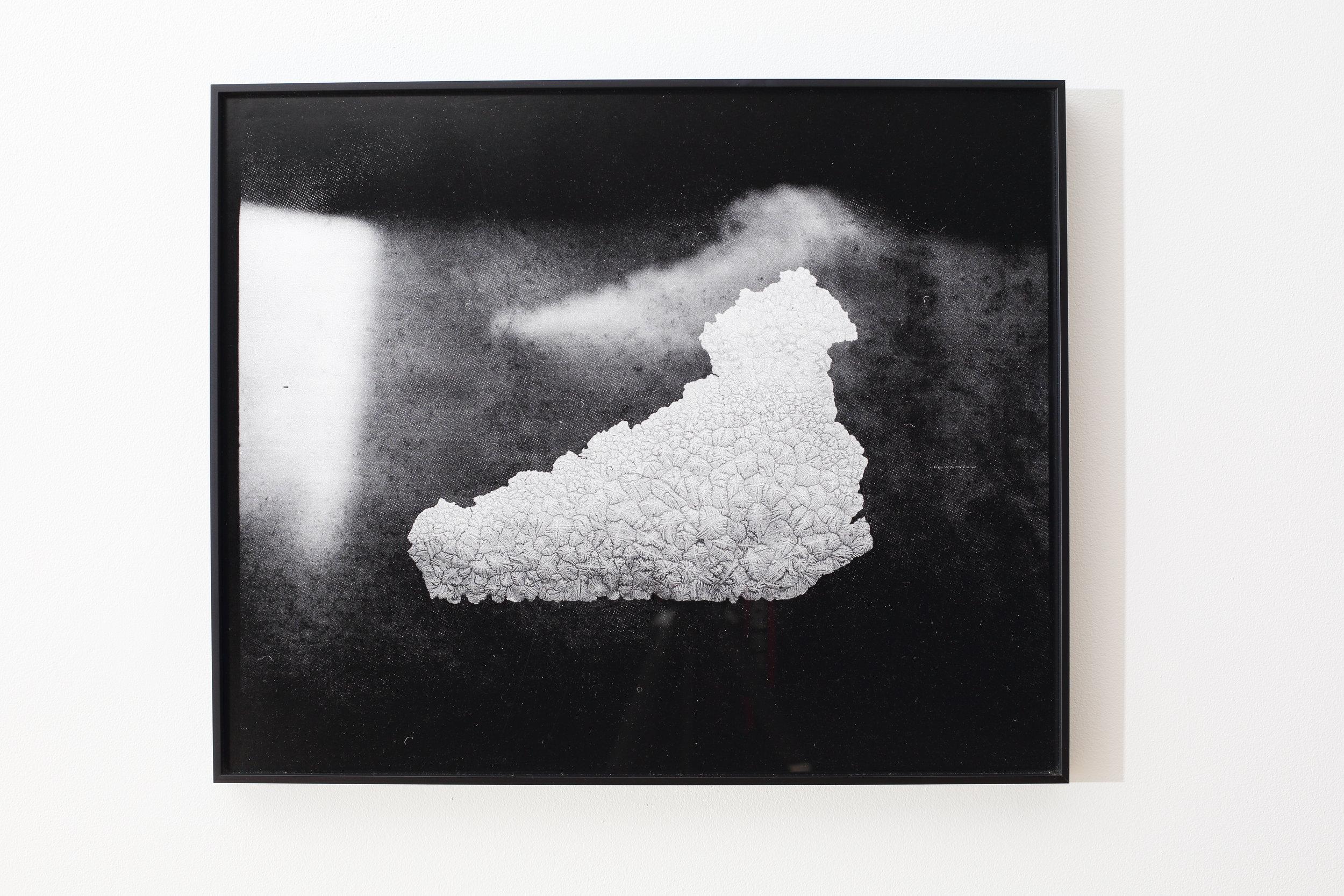Julie Escoffier ,  Mishap_4 Rice Water Overflow , 2016, medium-format film printed on silk Baryta