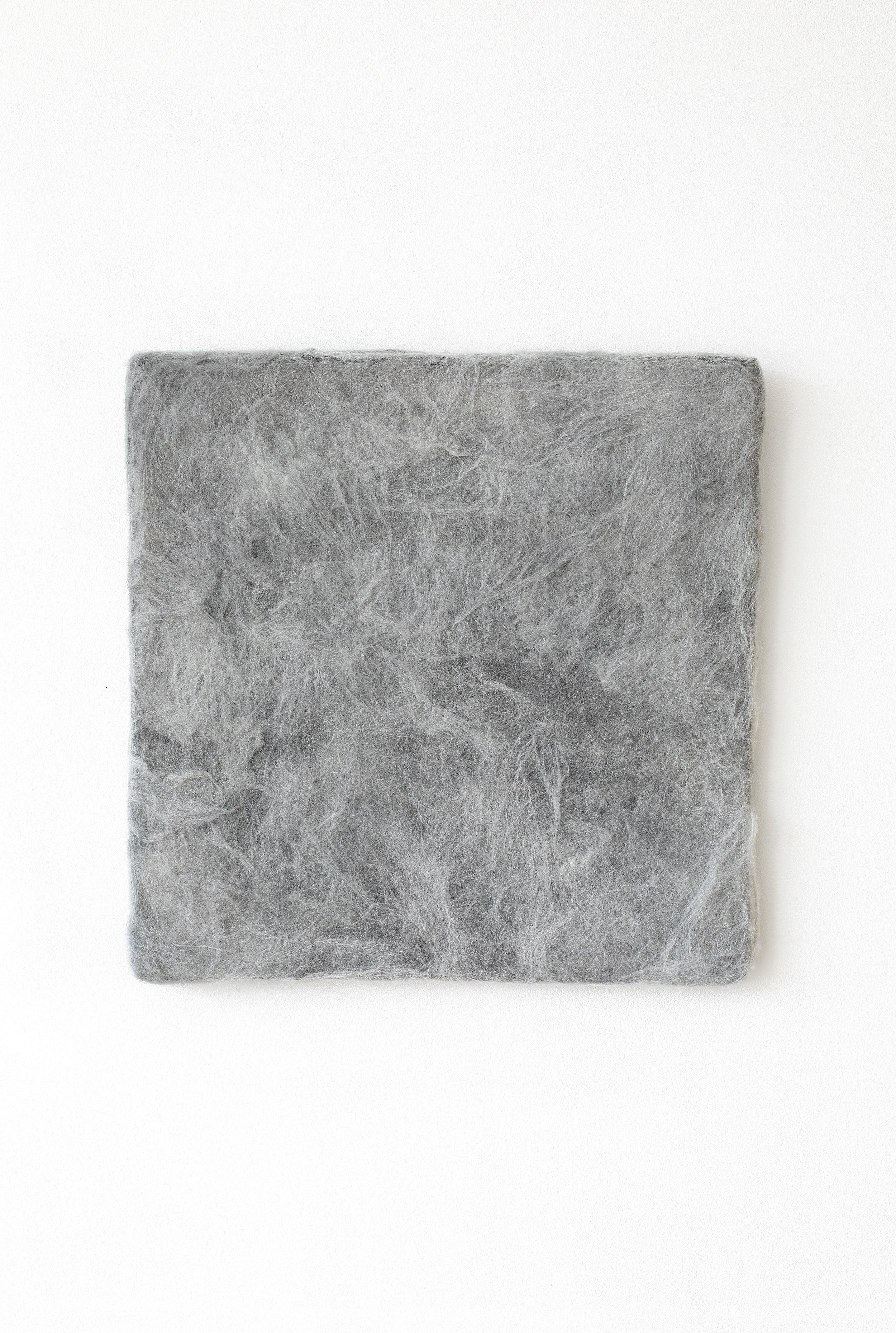 Manuela Garcia ,  Grey Felt , 2017,Wool, graphite and wood