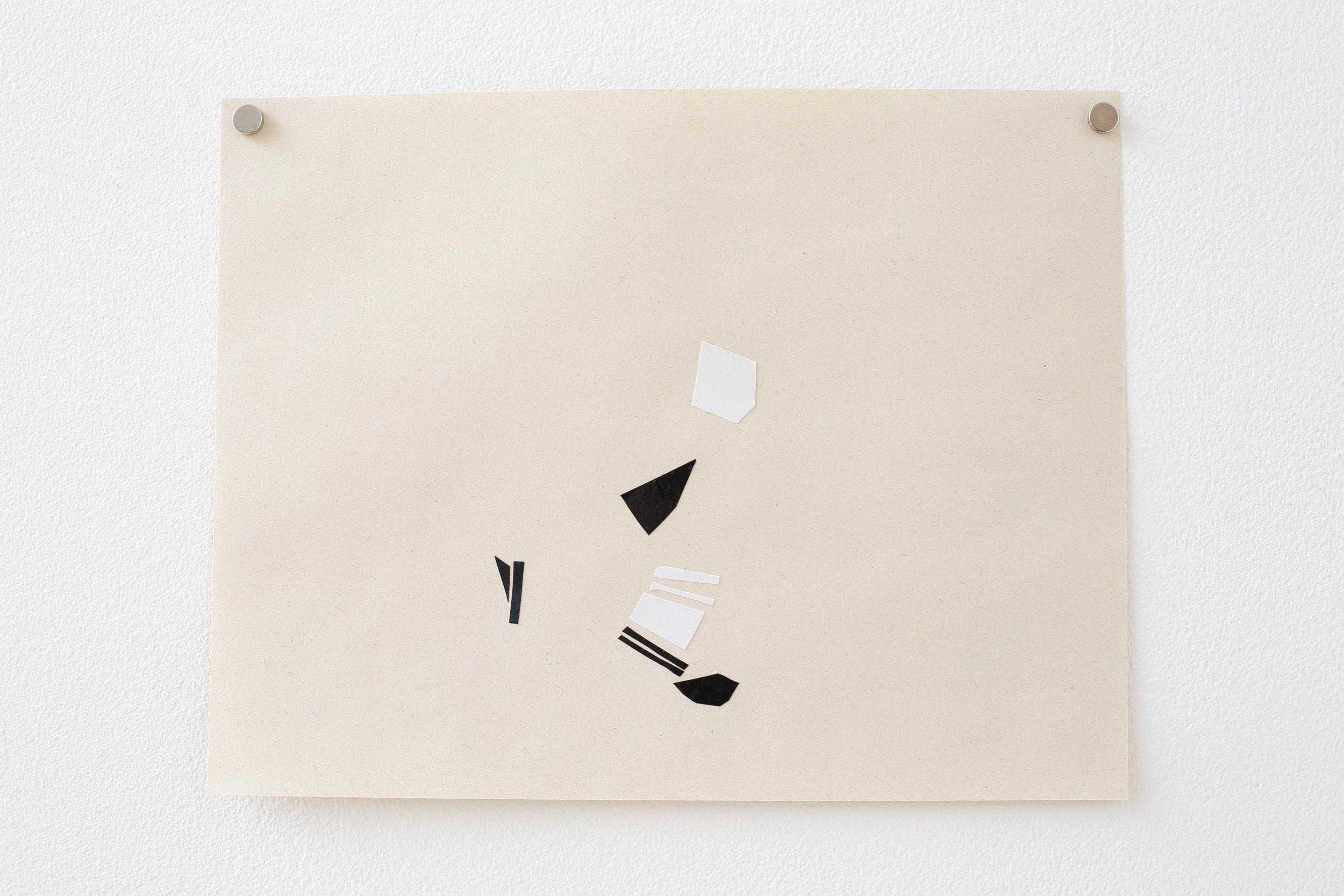 Manuela Garcia ,  Rhythm 1 , 2017, tape on paper
