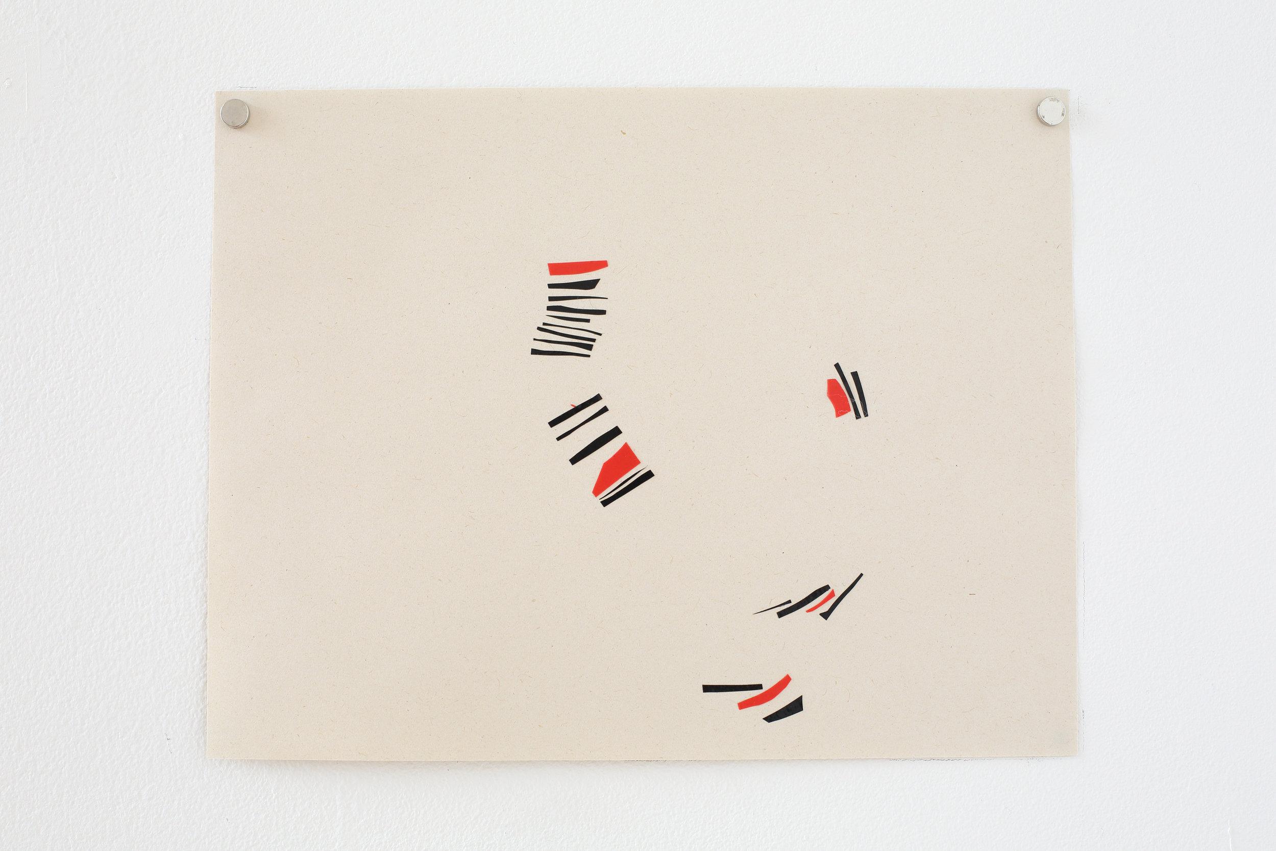 Manuela Garcia ,  Rhythm 3 , 2017, tape on paper