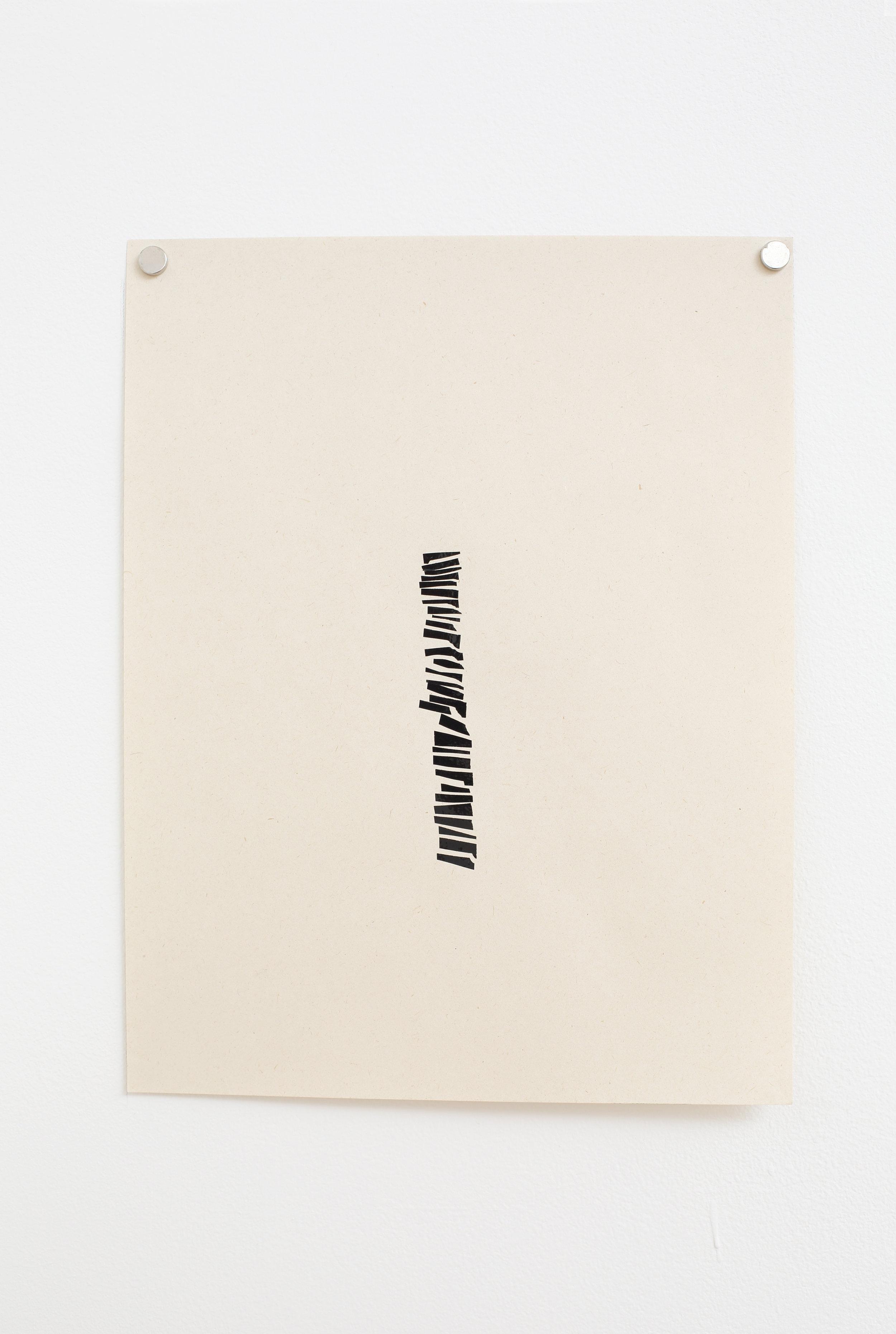Manuela Garcia ,  Rhythm 4 , 2017, tape on paper