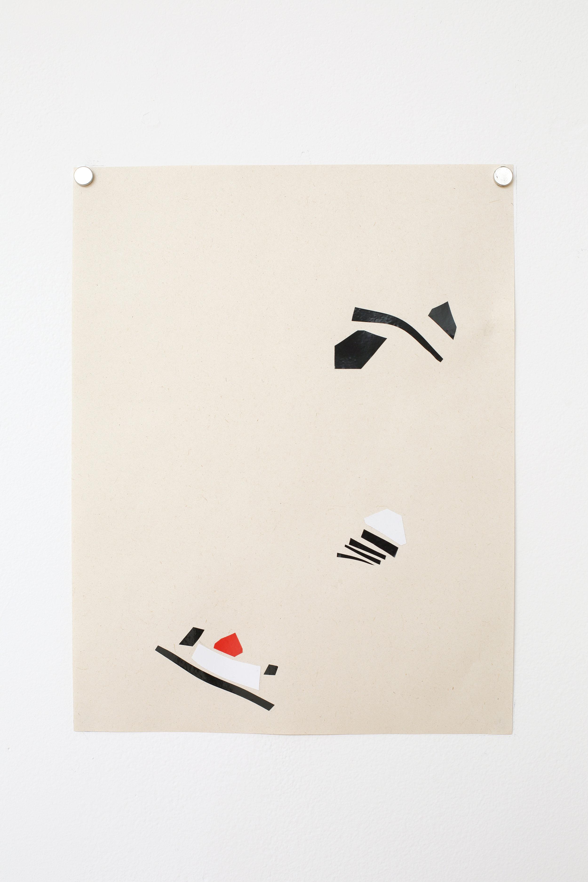 Manuela Garcia ,  Rhythm 7 , 2017, tape on paper