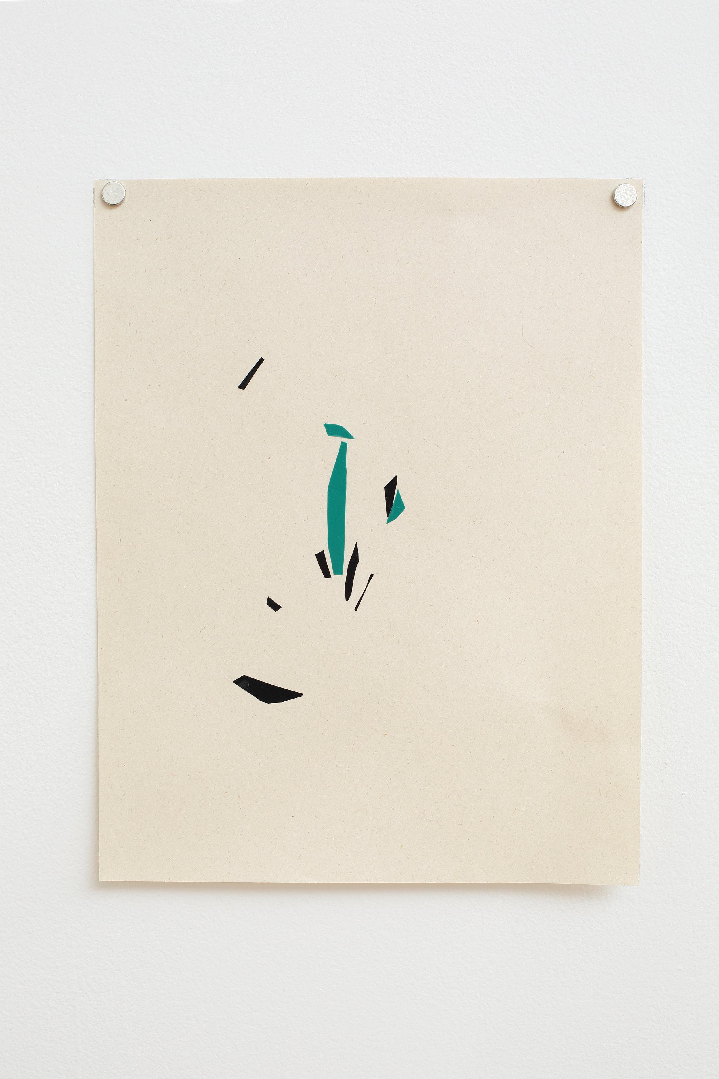 Manuela Garcia ,  Rhythm 6 , 2017, tape on paper