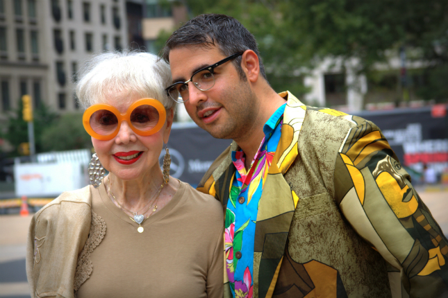 Ari (of  Advanced Style ) & Rita at NYFW, 2012  They were smiling for Bill.