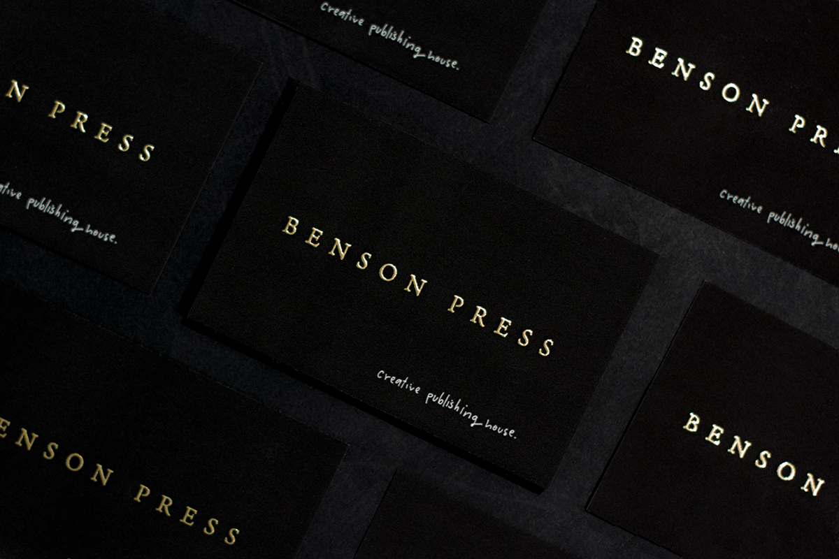 The Benson Press branding was featured in Adobe's Graphic Design and Adobe Illustrator gallery.  See the full project here ☞