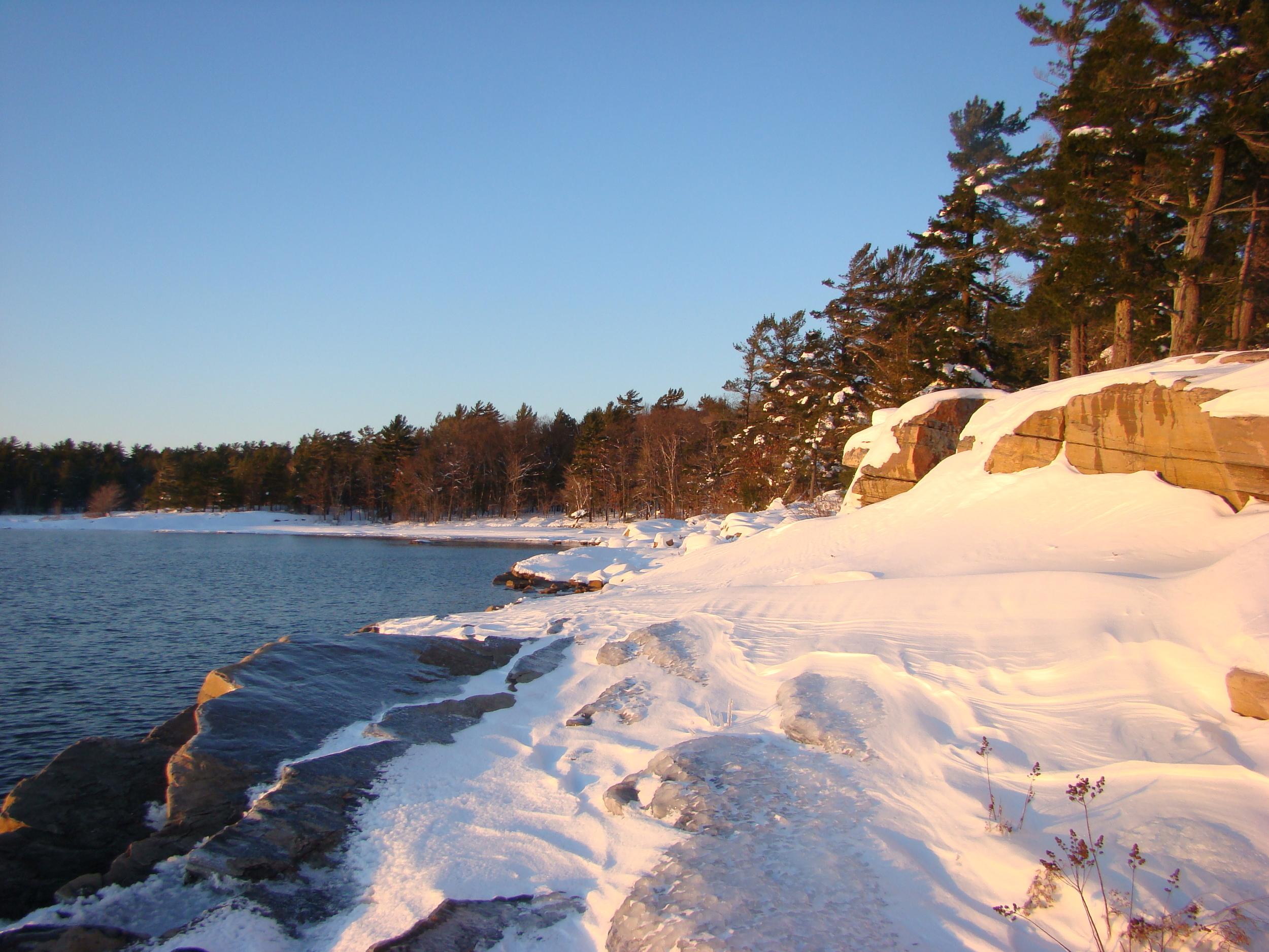Killbear in winter.