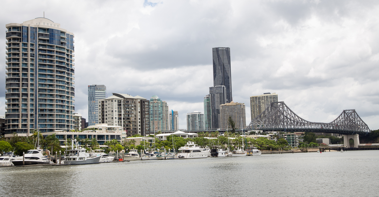 The Brisbane River, Brisbane CBD and the Story Bridge.