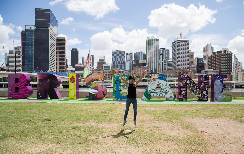 Brisbane CBD from Southbank Parklands