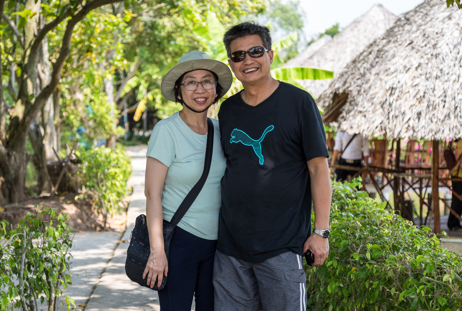The happy couple. My client's Clement and Lucy from Canada enjoying the Mekong Delta Tour.