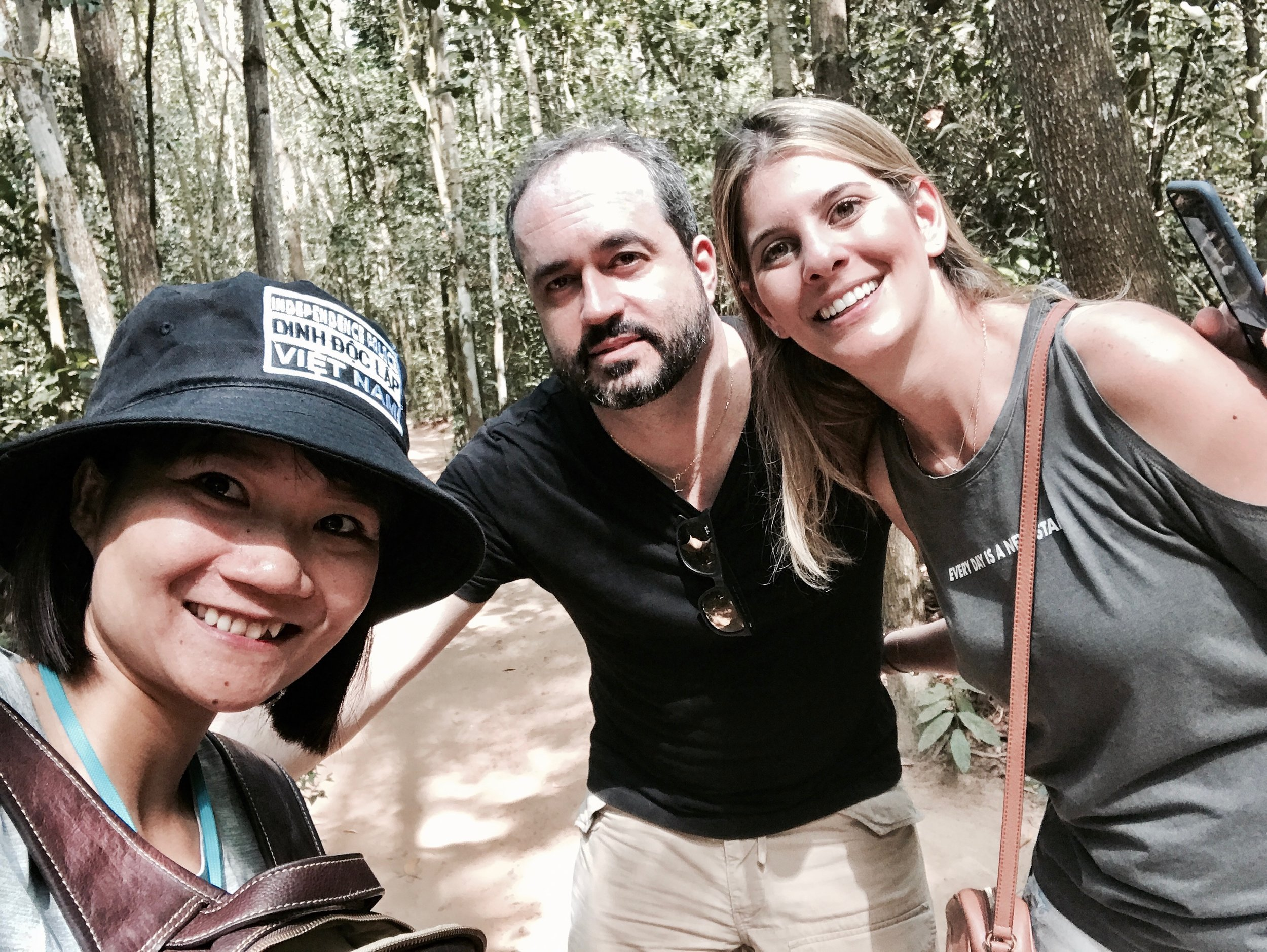 Indiane and Ronie from Brazil. Cu Chi Tunnels, 2017.