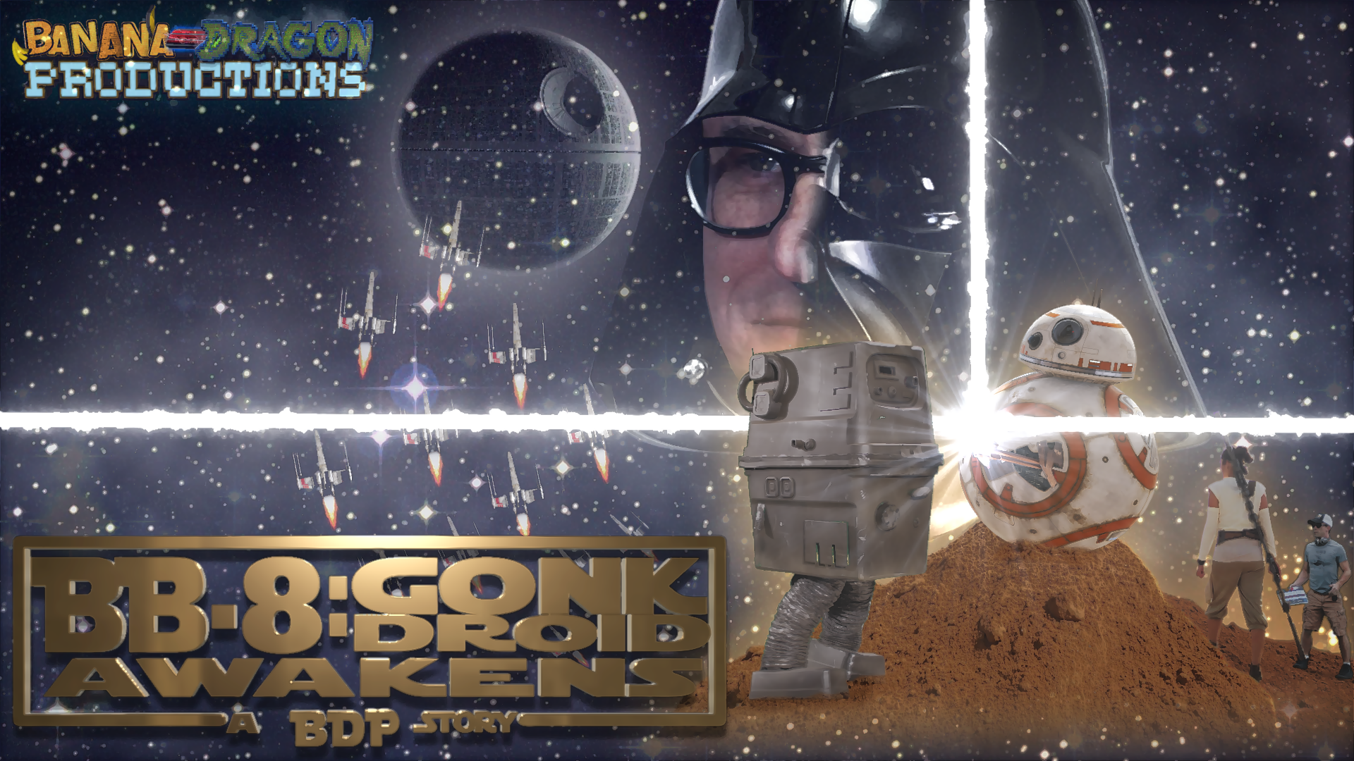 BB-8: Gonk Droid Awakens! / OFFICIAL POSTER_Banana-DragonProd
