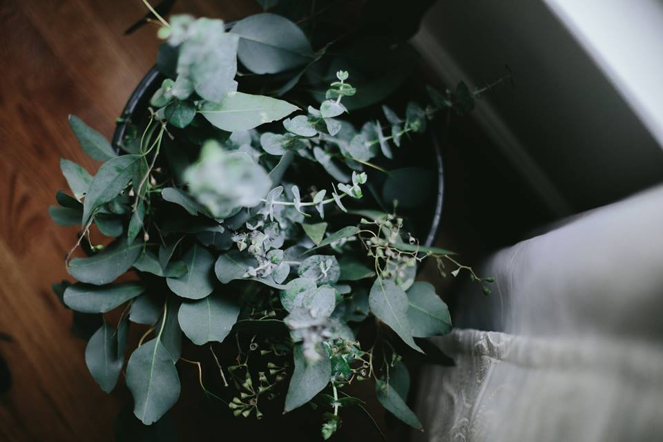 Eucalyptus Bouquets for the Bridal Party