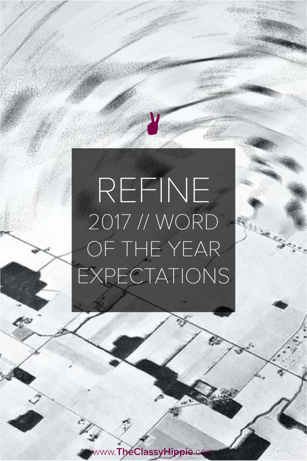 Refine -- 2017 Word of the Year Expectations -- The Classy Hippie
