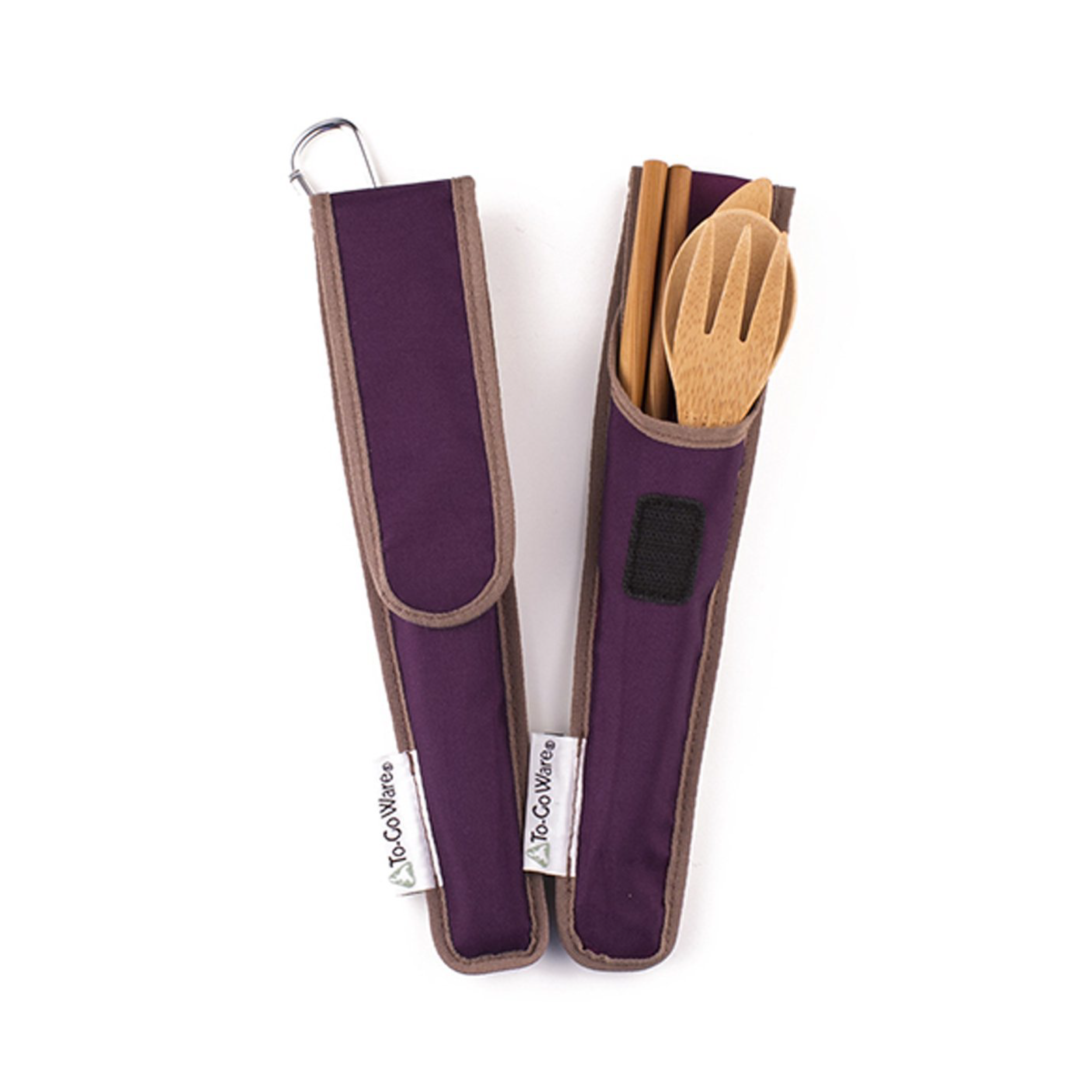 I love these! They're nice and compact, you can keep one in your car, your purse and at your desk. Plus, since they're bamboo, you can take them in to most public spaces because they aren't viewed as weapons like metal utensils can be.