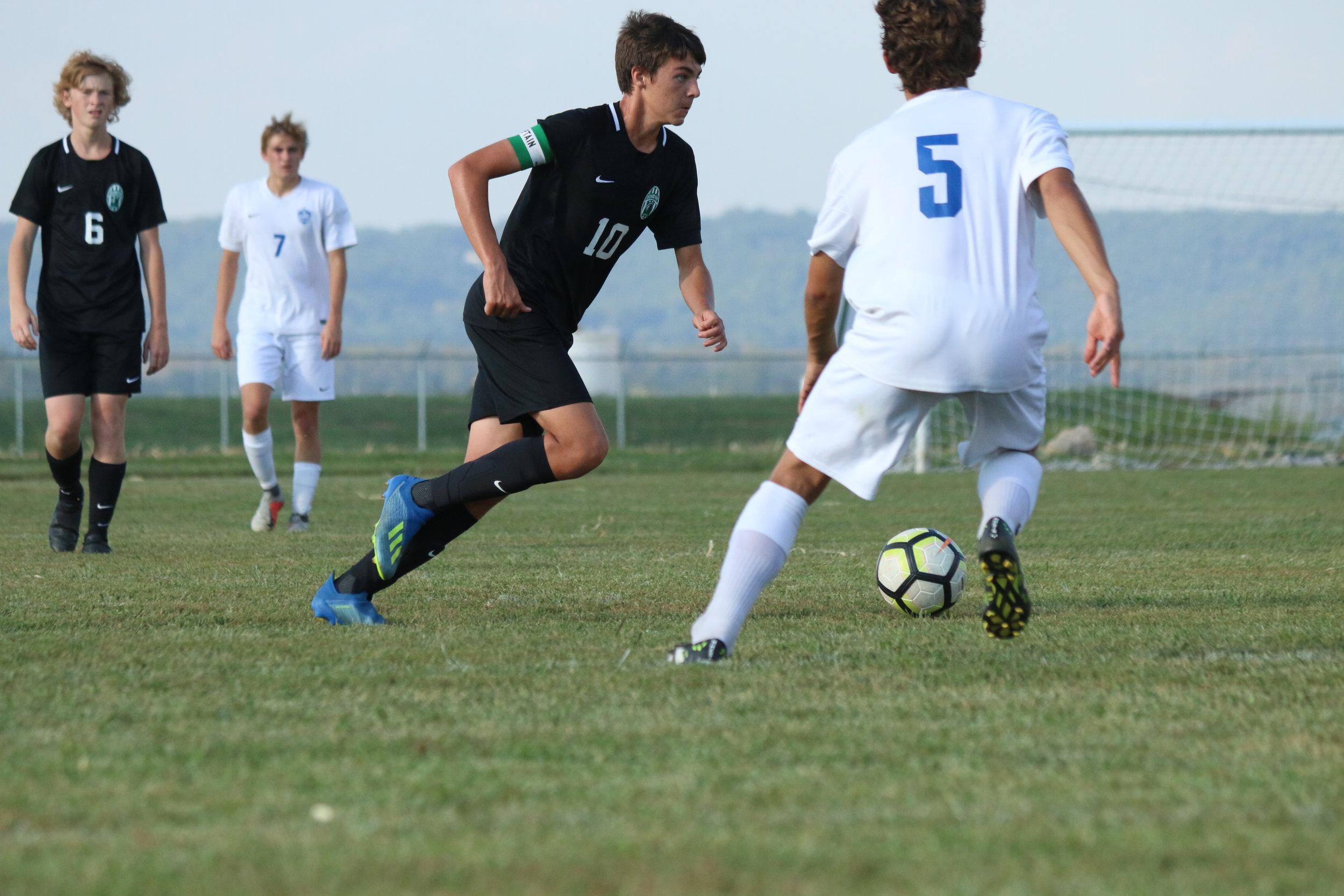 Varsity Soccer v.s. Lutheran 9/18