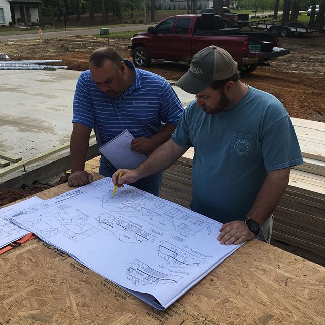 Site meeting with @contractors_millwork to find the doors and windows that will put that special touch on Lot 85 Indian Creek!