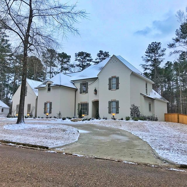Recently completed home in Flowood, MS #construction #customhomes #snowday