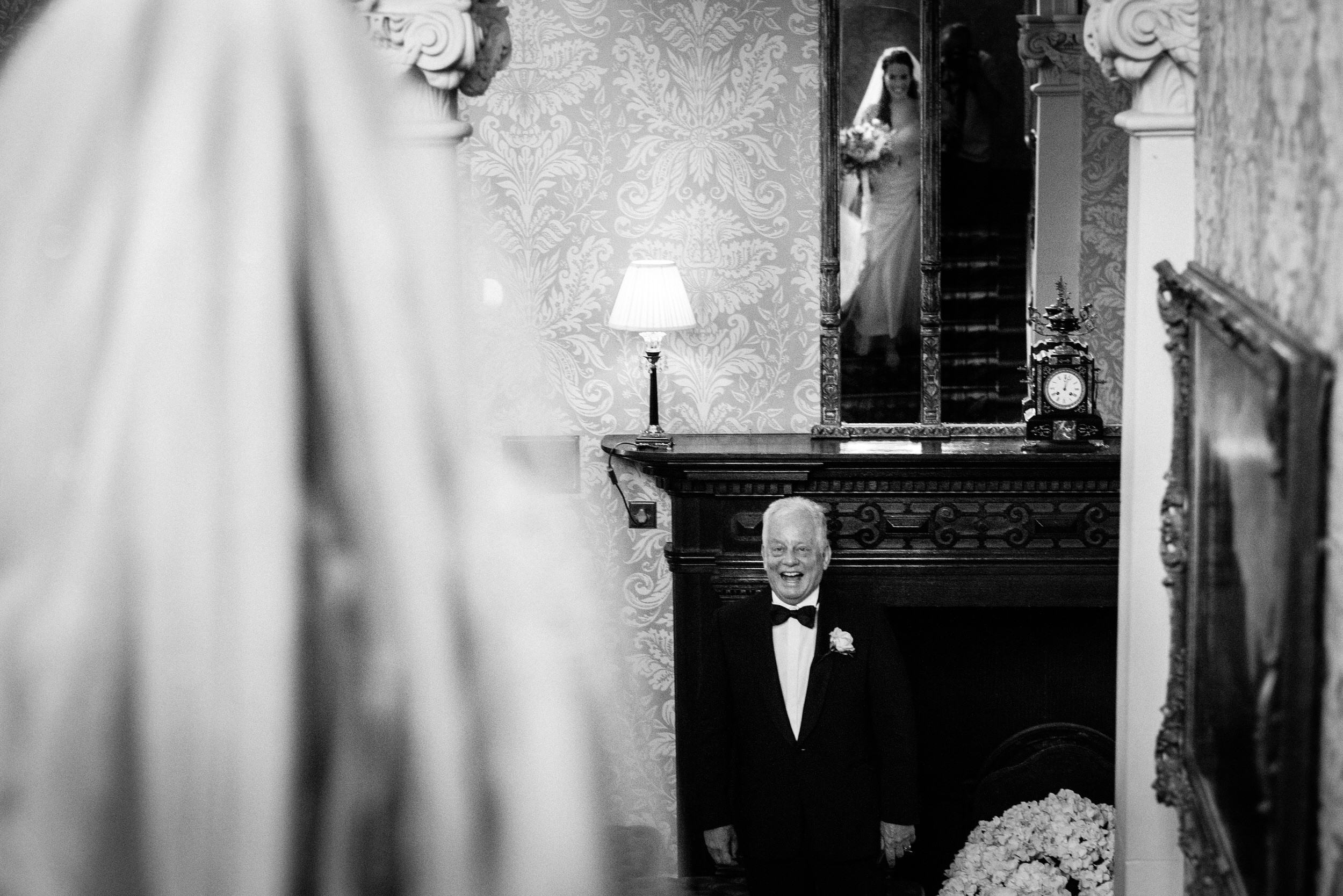 father of the bride - first look at Kilworth House