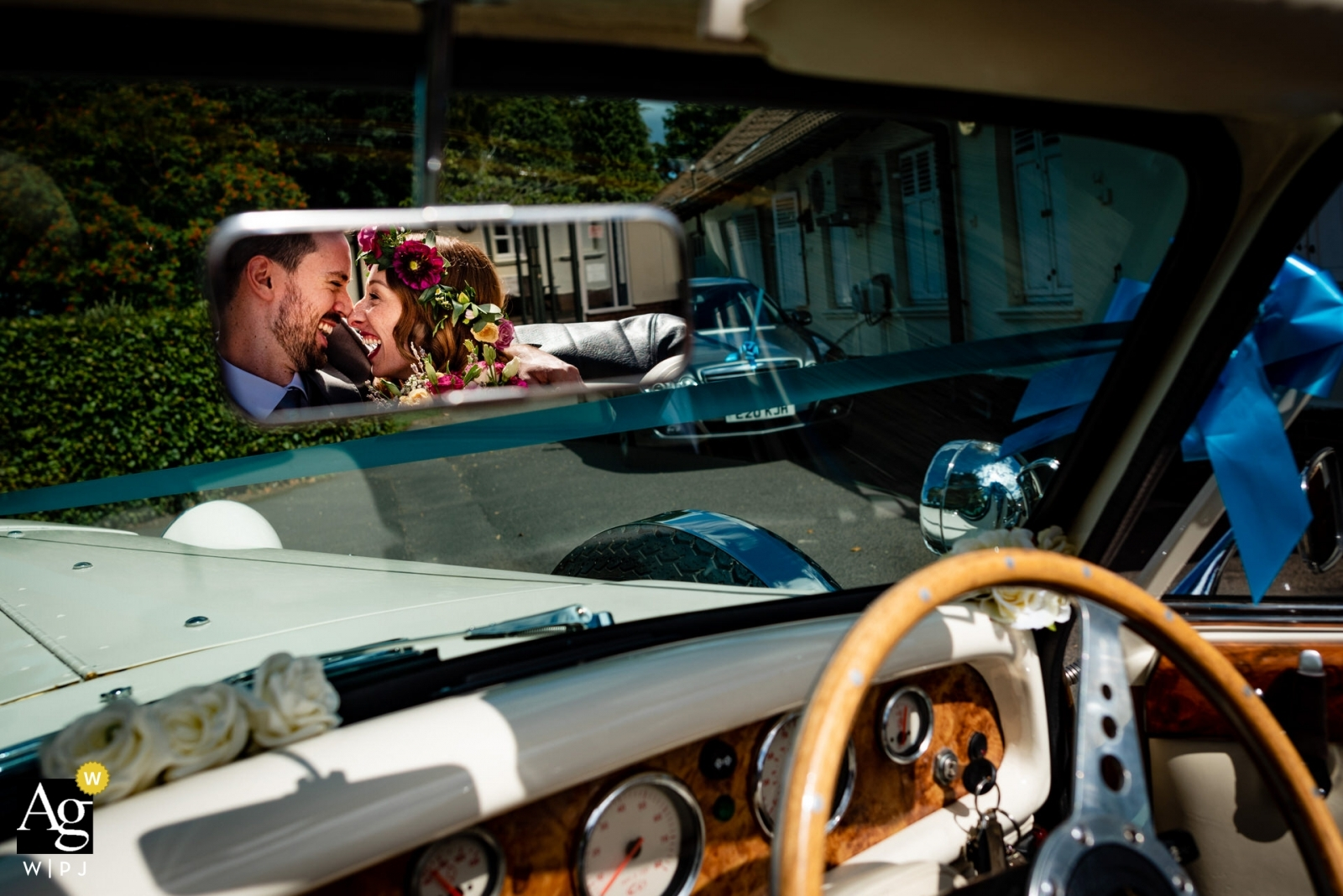 happy bride and groom just married - award winning wedding photography