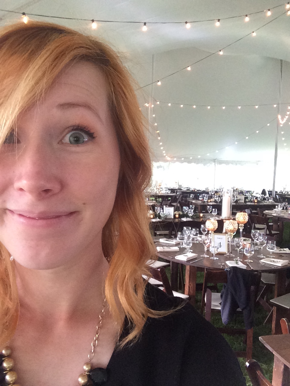 Wedding day selfie! This day was so fun!