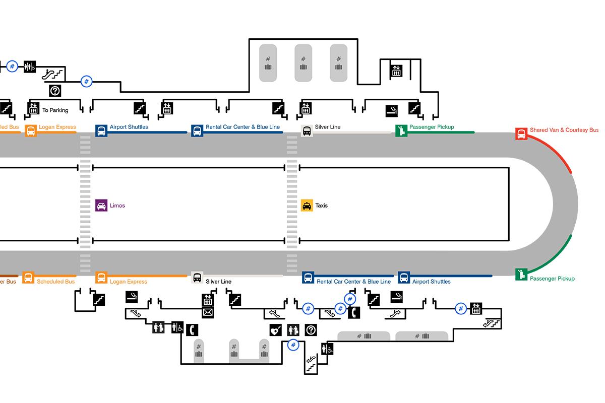 Logan International Airport terminal maps — Mark Grambau