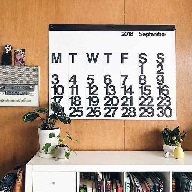 Labor Day + 2019 Stendig Calendar sale! I've got 8 of my absolute favorite calendars left in the shop for $40. They usually retail for $50 and are a limited run, so Stendig fans start buying up now and it'll sell out quick. Be sure to pick UPS Ground to get the best shipping rate if you're out of state. . I love these calendars because they're big enough for me to reuse as wrapping paper and then I can recycle all the parts. So in love with that #zerowaste + excellent design. See how it makes our chaos look all pretty? It's magic. . Link in the bio to the Modern Hive Studio shop. . #stendigcalendar #eichler