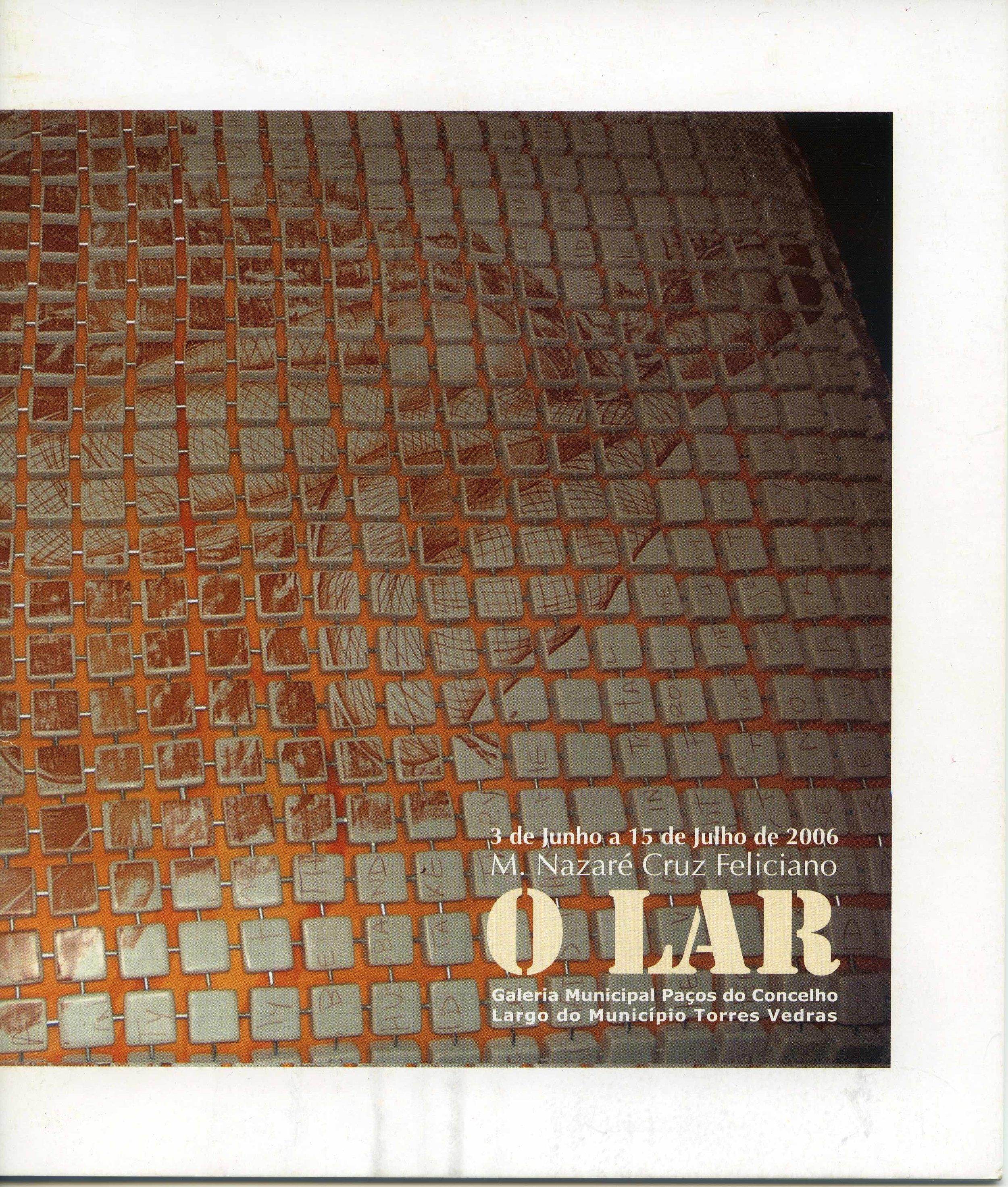 O Lar  2006, solo exhibition, Portugal - Catalog Cover