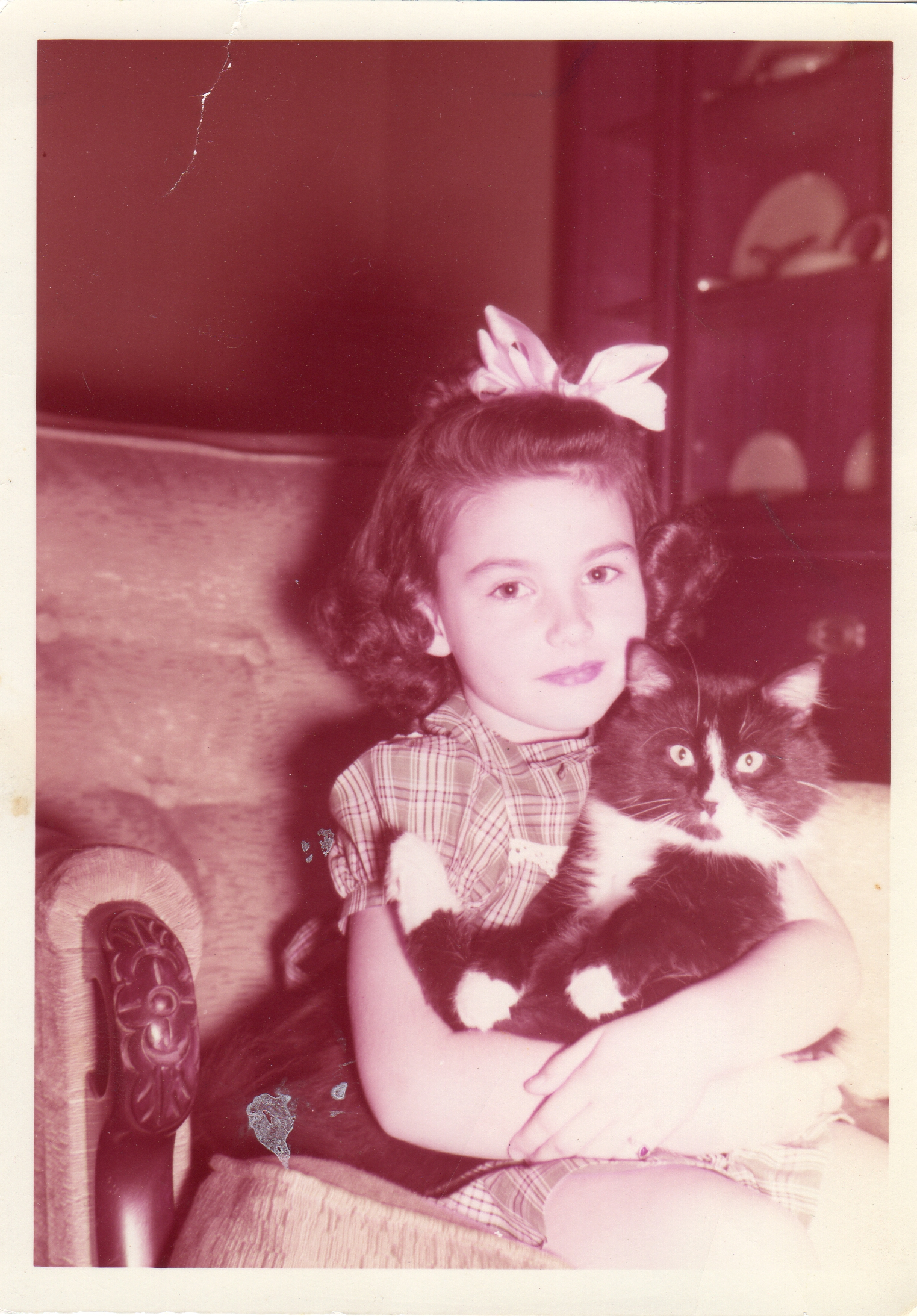 """5 years old with my first cat """"Toy"""""""