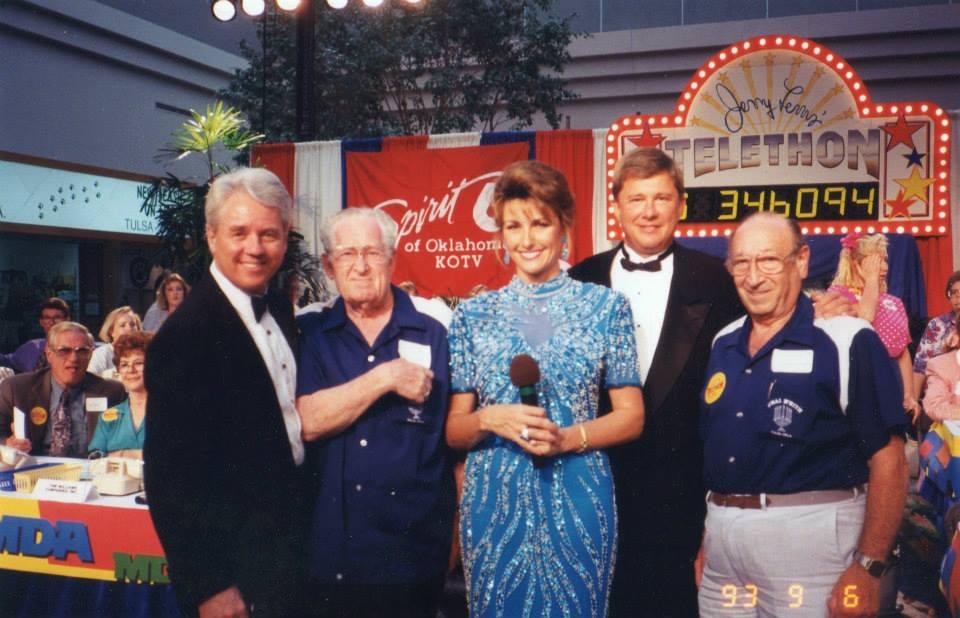 Jim Giles, Bob Losure and me at the MDA telethon.